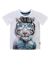 חולצת סינגל ליקרה עם הדפס