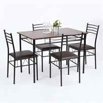 """שולחן פינת אוכל """"אדוארד"""" כולל 4 כסאות Homax"""