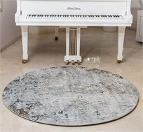 שטיח איסיי עגול לסלון מסיבי פוליאסטר