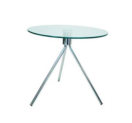 שולחן צד סלוני מזכוכית