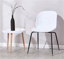 כסא פינת אוכל בעיצוב מודרני מפלסטיק ומתכת