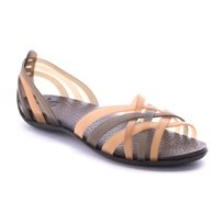 Crocs Huarache Flat - סנדל נשים אופנתי בצבע ברונזהאספרסו
