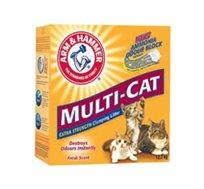 """סופרחול 9 ק""""ג מנטרל ריח ומפיץ ריח רענן לחתולים ARM & HAMMER Multi Cat"""