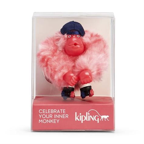 בובת קוף לאספנים Rollerskate Monkey - Pink Stripes