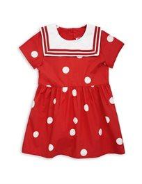 Mini Rodini// Dot Woven Sailor Dress Red