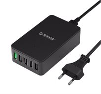 מטען שולחני ORICO מקורי עם 5 כניסות USB תומך QUALCOMM QUICK CHARGE 2.0 לLG G4,סמסונג S6 ועוד