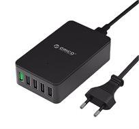 מטען שולחני ORICO מקורי עם 5 כניסות USB תומך QUALCOMM QUICK CHARGE 2.0