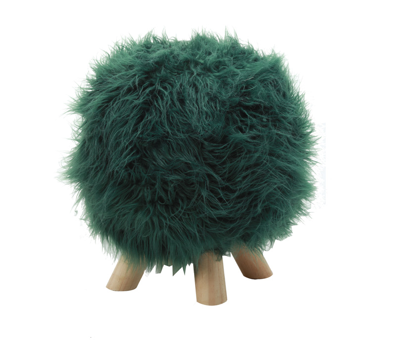 הדום מעוצב דגם דולי ביתילי עשוי בד ורגלי עץ למראה אופנתי וייחודי לסלון - תמונה 2