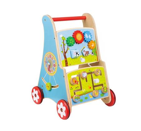 משחק לילדים הליכון דחיפה אקטיבי מעץ BGIFTS