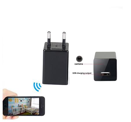 מצלמת IP אלחוטית זעירה נסתרת במטען קיר USB צפייה והקלטה מרחוק באמצעות אפליקציה מתאים לAndroid/Iphone - משלוח חינם - תמונה 2