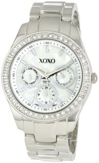 שעון לנשים XOXO בצבע כסף XO5302A