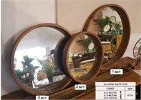 סט 3 מראות מסגרת עץ עגול 153000