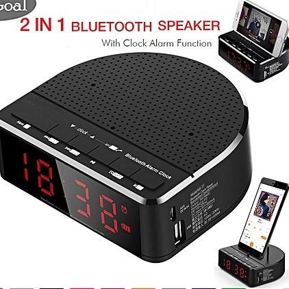 שעון מעורר צג דיגיטלי Home Time - כולל: חיבור USB ורדיו FM מובנה, רמקול Bluetooth  נגן MP3 ועוד - תמונה 2