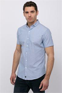 חולצה מכופתרת אוקספורד עם טקסטורה