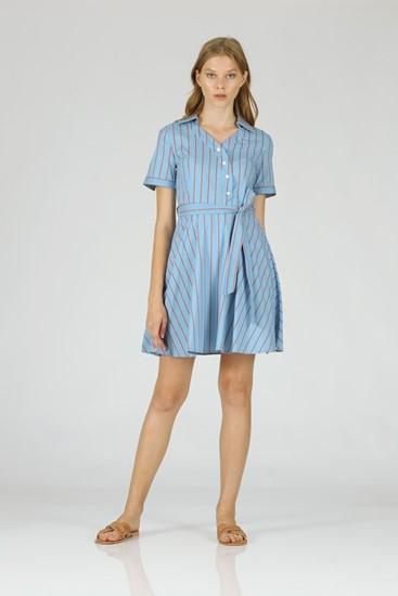 שמלה קייט - כחול