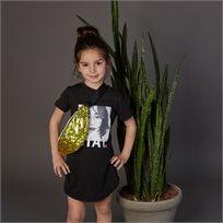 חולצת Oro לילדות (מידות 2-7 שנים) שחור אישה