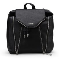 REPLAY נשים // HAMMERED ECO-LEATHER BACKPACK BLACK