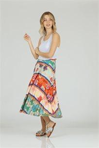 חצאית פליסה צבעונית - CUBiCA