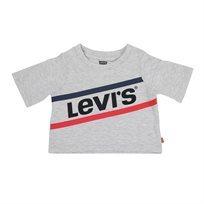 חולצה ליוויס קצרה אפורה לילדים - Levi's Cropped Tee Light Gray