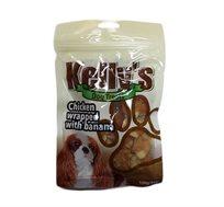 3 יחידות חטיף קייליס לכלב בננה מצופה עוף
