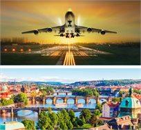 טיסות לפראג ביוני-אוגוסט ל-3-7 לילות הלוך חזור החל מכ-$259*