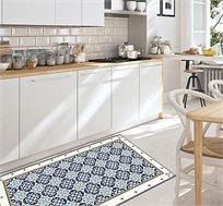 שטיח מעוצב דגם רוזה כחול בגדלים לבחירה