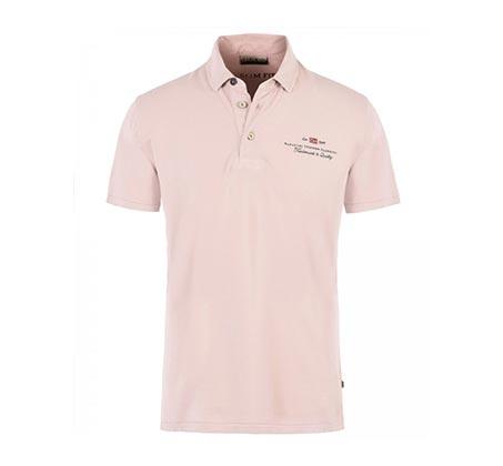 חולצת פולו קצרה לגברים - ורוד בהיר