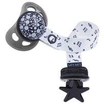 Baby Mitmit תופסן מעוצב למוצץ Happy Music -שחור