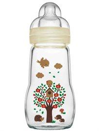 """מאמ בקבוק זכוכית לתינוק 260 מ""""ל"""