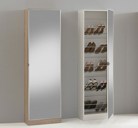 ארון נעליים בעל נפח אחסון ענק עם דלת מראת חזית לכל אורך הארון HOMAX - תמונה 3