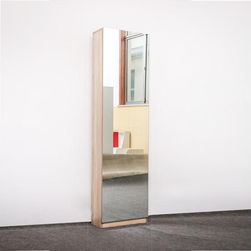 ארון נעליים בעל נפח אחסון ענק עם דלת מראת חזית לכל אורך הארון HOMAX - תמונה 4