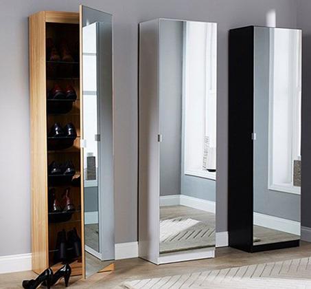 ארון ענק לאחסון נעליים עם מראה HOMAX במגוון צבעים לבחירה