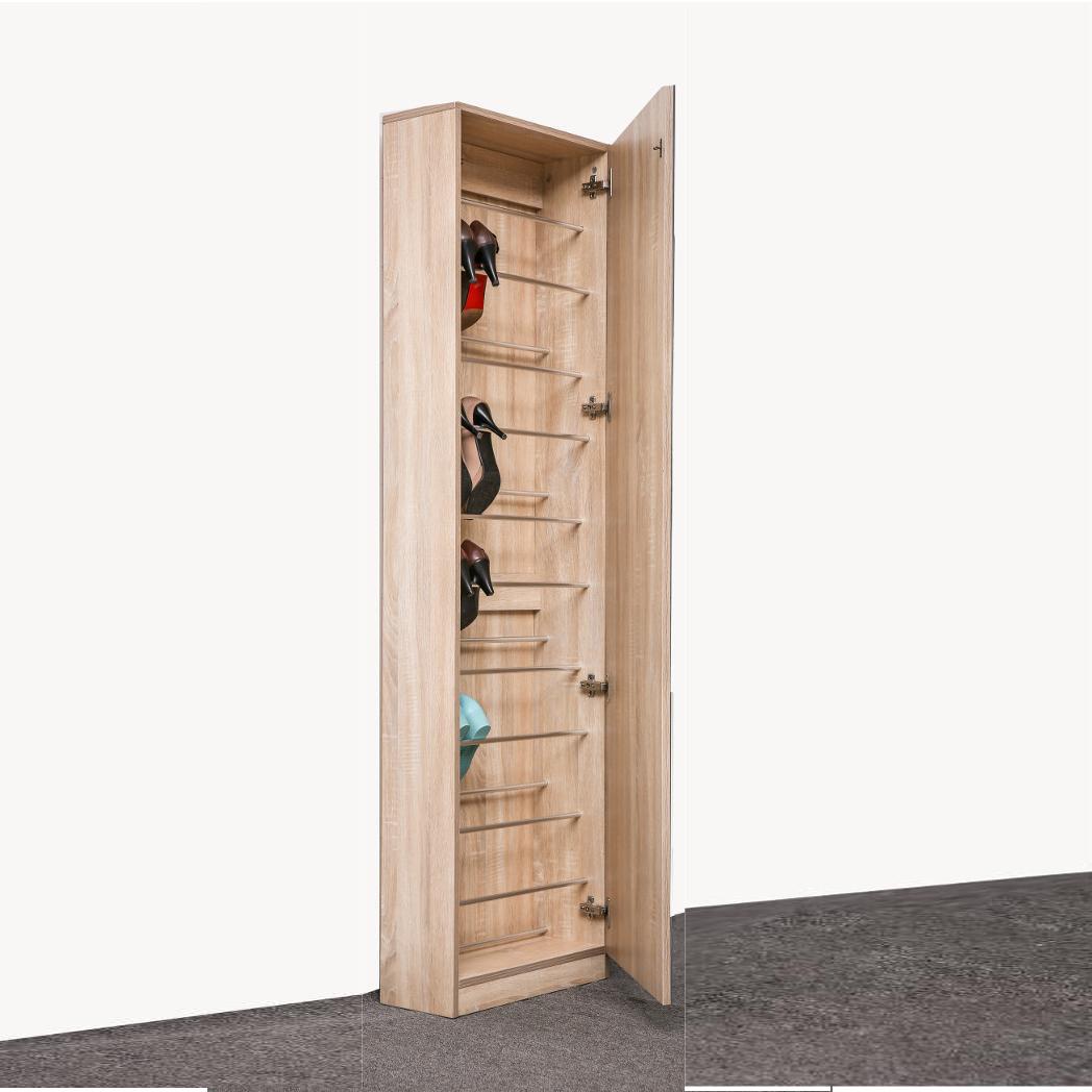 ארון נעליים בעל נפח אחסון ענק עם דלת מראת חזית לכל אורך הארון HOMAX - תמונה 5