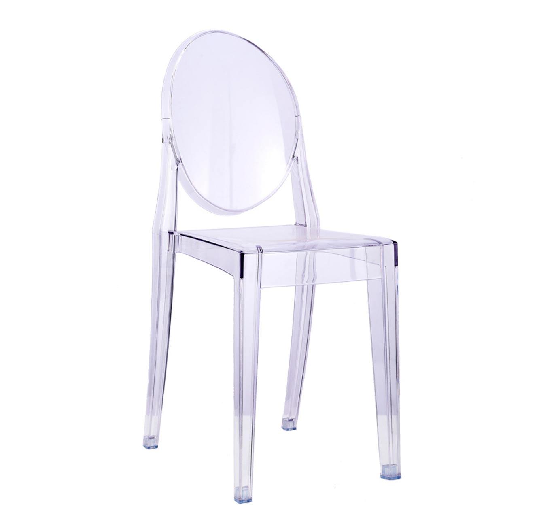 כסא אוכל מודרני שקוף