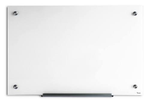 לוח זכוכית מחיק מגנטי 120x200 ס''מ לבן - Bclear - תמונה 5