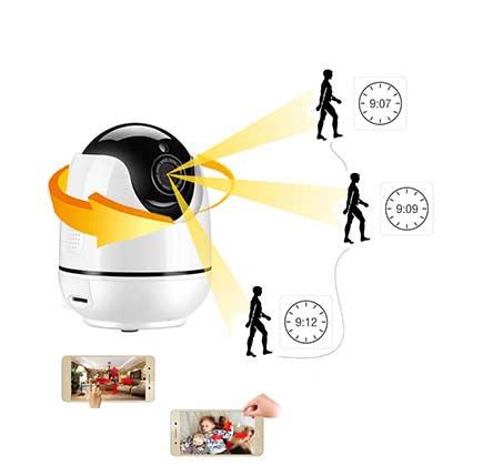 מעולה  מצלמת אבטחה IP אלחוטית 360 מעלות וחכמה HD עם אפשרות הקלטה על כרטיס ZW-72
