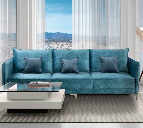 ספה תלת מושבית מבד איכותי נוח ומפנק שלדת עץ מלא במגוון צבעים לבחירה