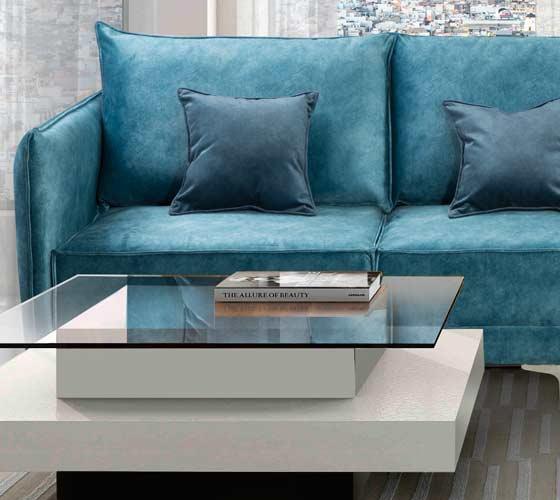 סלון תלת בעיצוב מודרני מבד איכותי ונעים דגם אביטל כולל 3 כריות מתנה דגמי 2018 LEONARDO - תמונה 2