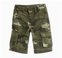 מכנסי ברמודה קצרים OVS לילדים - ירוק זית