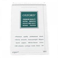 בלוק ספירלה 80 דף A4 שורה Oxford