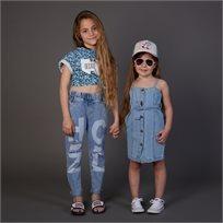 ג'ינס ORO לילדות (מידות 3-8 שנים) קרעים גדול