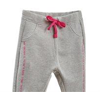 מכנסי סטרץ OVS עם אותיות מנצנצות לילדות בצבע אפור