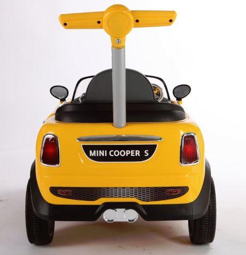 בימבה דחיפה בדמות MINI COOPER - לבן - משלוח חינם - תמונה 3