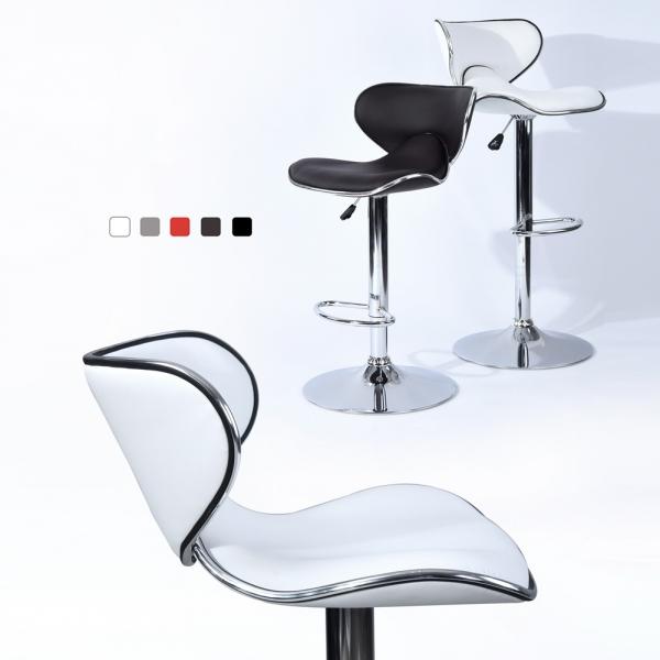 כיסא בר דגם ארנו בריפוד דמוי עור במגוון צבעים לבחירה HOMAX  - תמונה 6