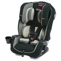 כיסא בטיחות משולב בוסטר מילסטון הכל באחד שחור/אפור בהיר