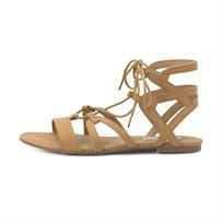 STEVE MADDEN נשים // WRAPPING TAN MICROSUEDE
