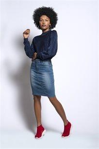 חצאית ג'ינס ישרה