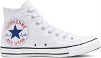 סניקרס קונברס גבוה נשים Chuck Taylor Big Logo לבן