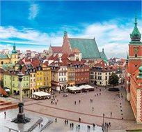 """טיול מאורגן ל-8 ימים בפולין גם בחגים כולל טיסות ולינה ע""""ב א.בוקר החל מכ-€549*"""