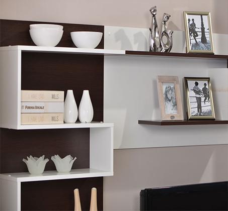 מזנון טלויזיה מיוחד לסלון בעיצוב מודרני בעל שפע מדפי אחסון מבית SIRS  - תמונה 2